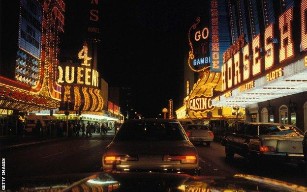 Las Vegas in the 1960s by night