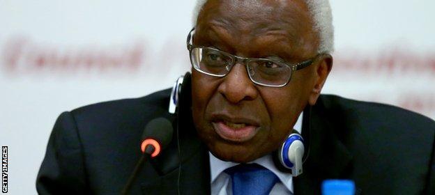 Lamine Diack stood down as IAAF president in August