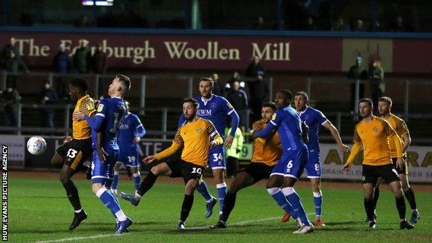 Newport County's last game was a 2-0 defeat at Carlisle United on 10 March