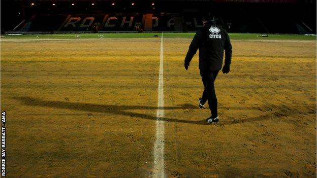 The Spotland pitch