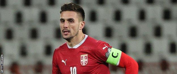 Тадић је постигао сва три гола за Србију током јединствене сцене