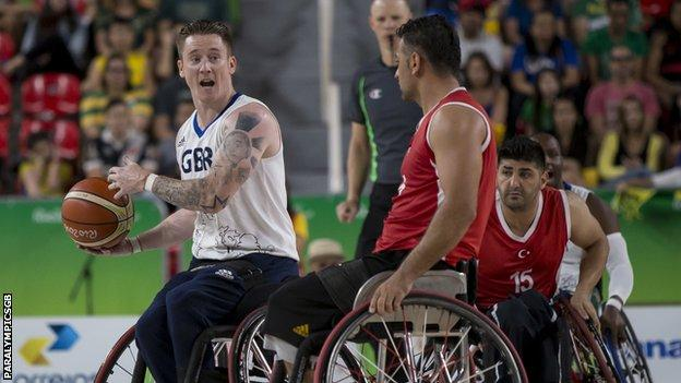 Terry Bywater in action at the Paralympics in Rio