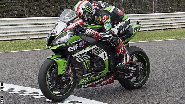 Jonathan Rea produced a superb ride in the rain on Sunday