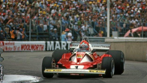Niki Lauda wins the Monaco Grand Prix in 1976
