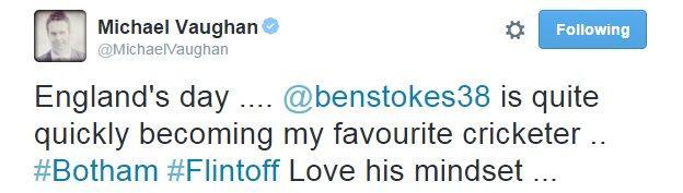Michael Vaughan tweet