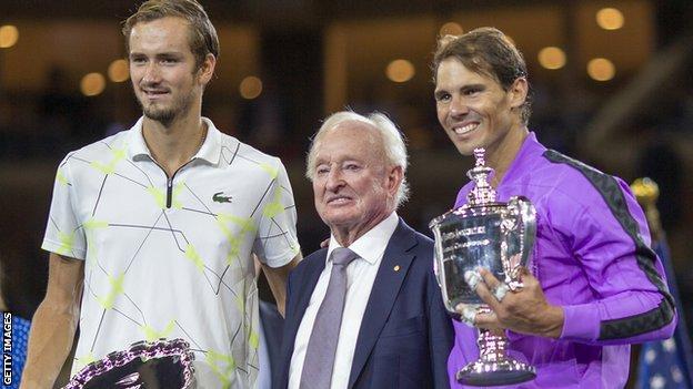 Rafael Nadal (right)