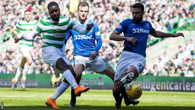 Odsonne Edouard scores for Celtic against Rangers