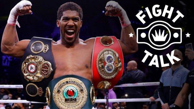 Britain's unified heavyweight champion Anthony Joshua after recapturing his titles against Andy Ruiz Jr in Saudi Arabia