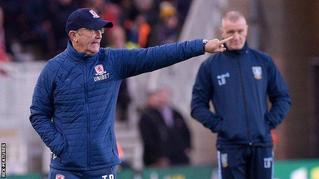 Middlesbrough boss Tony Pulis