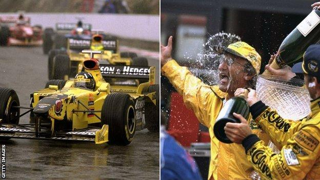 Damon Hill and Eddie Jordan