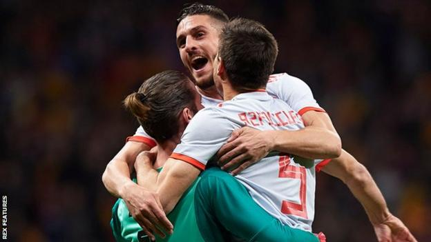 Spain recorded their biggest win against a World Cup winning nation