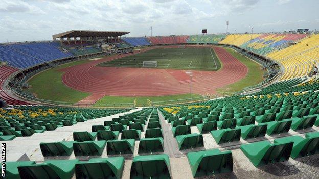 The Teslim Balogun stadium in Lagos