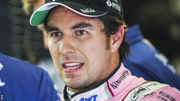 Force India F1 driver Sergio Perez