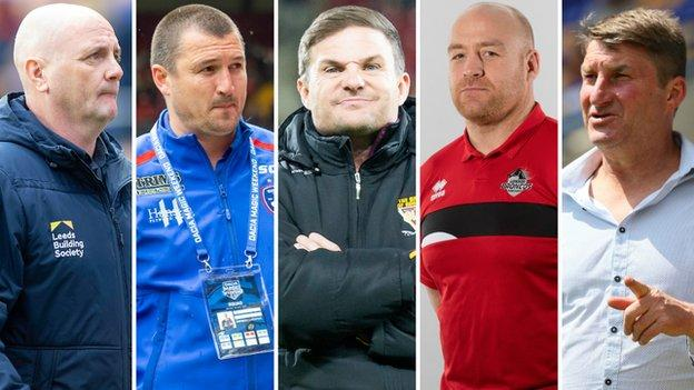 Richard Agar, Chris Chester, Simon Woolford, Danny Ward and Tony Smith