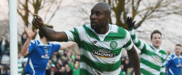 Carlton Cole celebrates scoring for Celtic