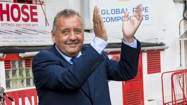 Jimmy Calderwood returned to Pittodrie last year for Jamie Langfield's testimonial game