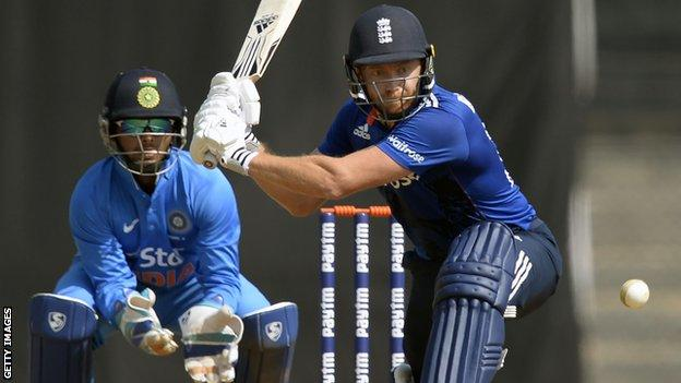 Jonny Bairstow in a warm-up one day cricket match