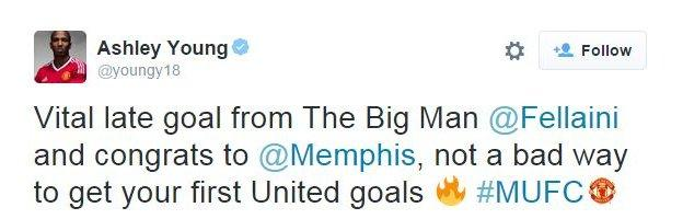 Ashley Young on Twitter