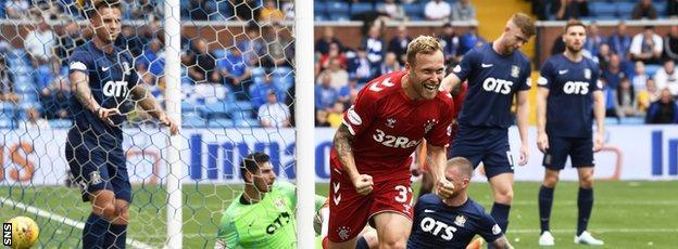 Scott Arfield's goal had looked like earning Rangers the win