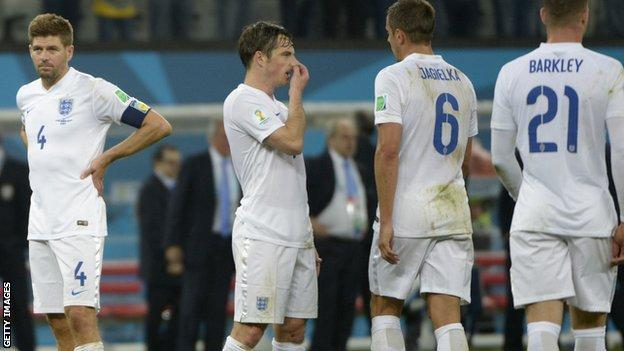 England are knocked out of the 2014 World Cup