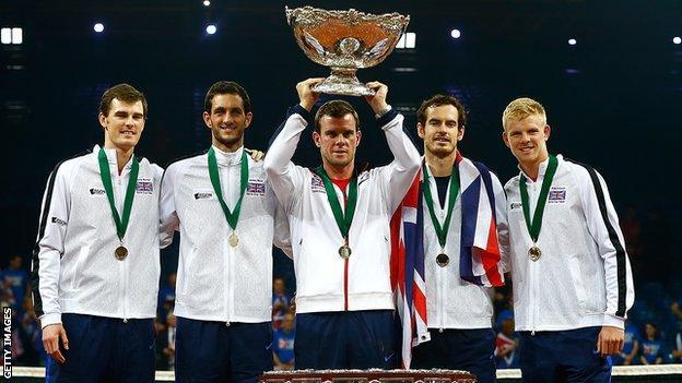 Great Britain's winning Davis Cup team in 2015