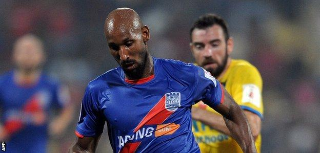 Nicolas Anelka in action for Mumbai City