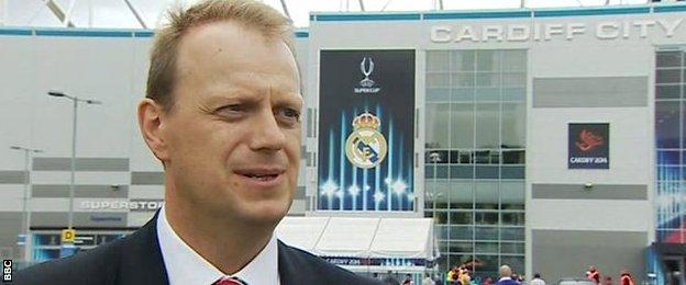Alan Hamer of the Football Association of Wales