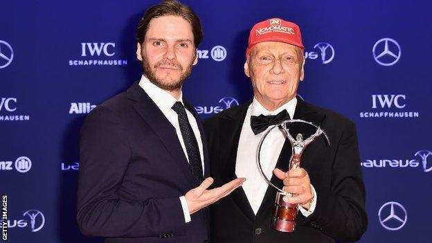 Daniel Bruhl and Niki Lauda