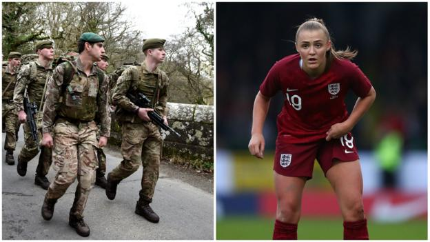 Women's World Cup 2019: England prepare with Marines thumbnail