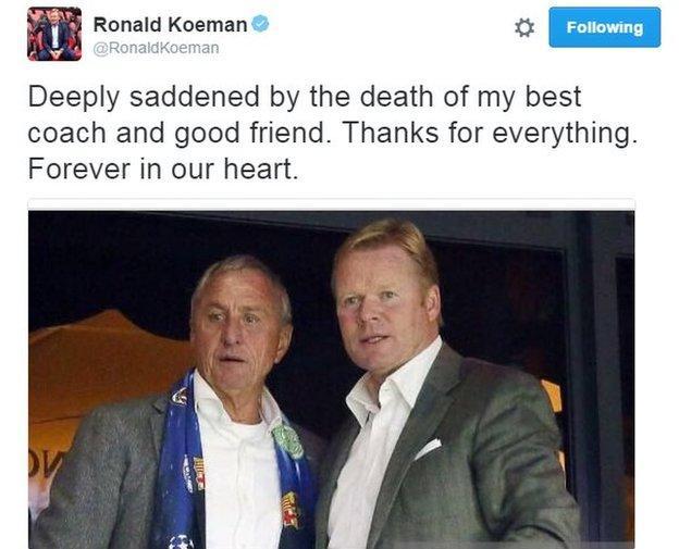 Ronal Koeman Twitter