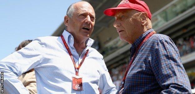 Ron Dennis and Niki Lauda