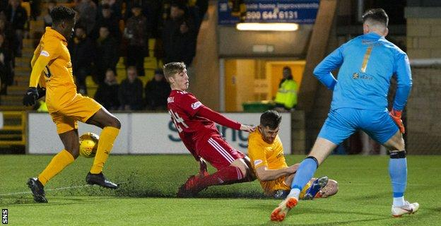 Aberdeen's winner was a scrappy one, deflected in off Dean Campbell