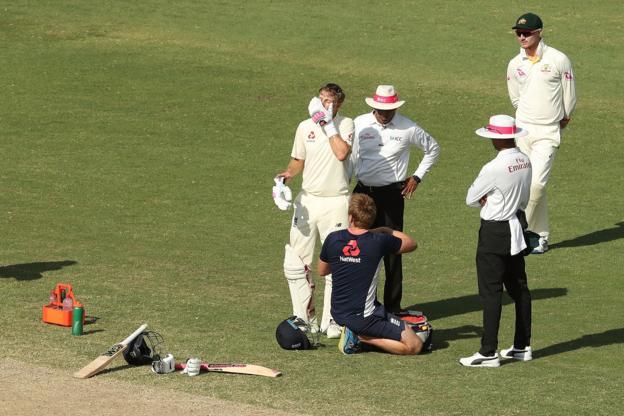 England captain Joe Root receives treatment for dehydration in Australia