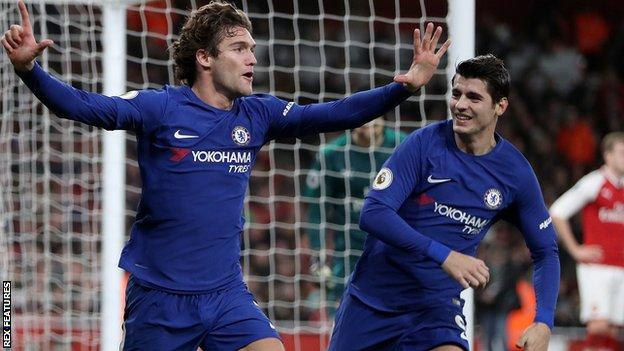 Marcos Alonso (left)