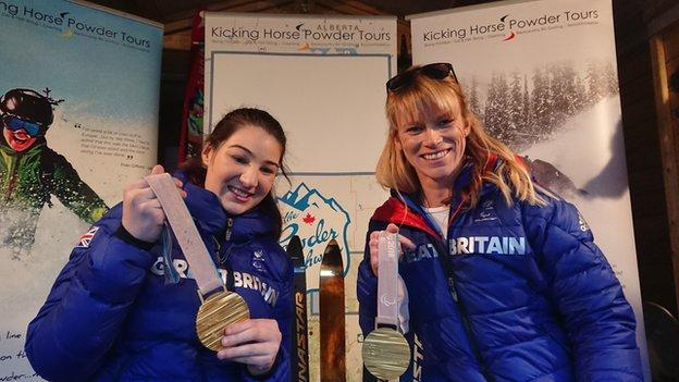 Paralympic skiing champions Menna Fitzpatrick (left) and guide Jen Kehoe are targeting a world title