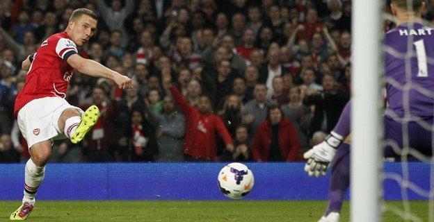 Former Arsenal striker Lukas Podolski