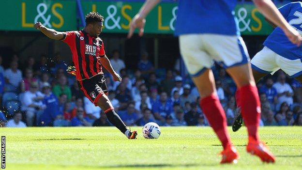 Winger Jordon Ibe in action for his new club Bournemouth in pre-season