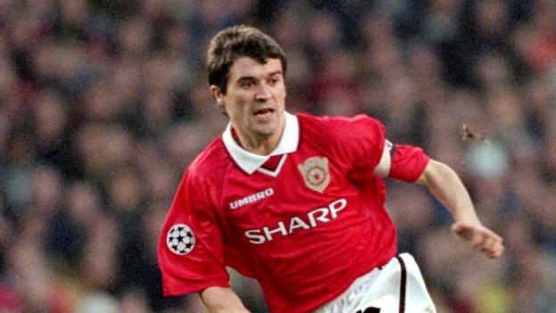 Roy Keane, playing for Manchester United