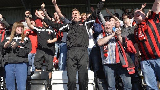 Crusaders celebrate the league title