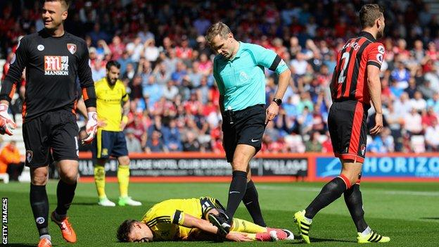 Gaston Ramirez feigns injury