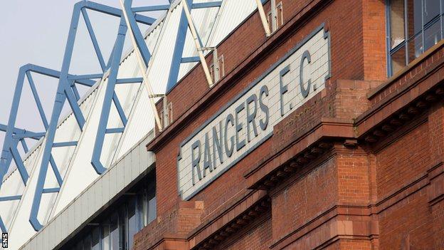 Rangers FC banner at Ibrox Stadium