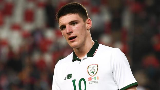 Declan Rice: West Ham midfielder declares for England over Republic of Ireland thumbnail
