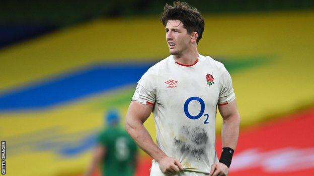 Tom Curry playing for England