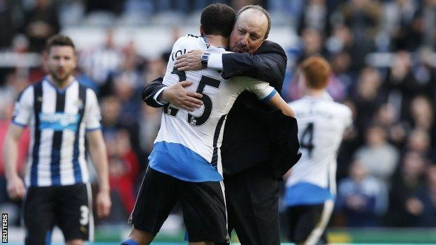 Andros Townsend (left) and Rafael Benitez