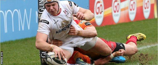 Luke Marshall scored Ulster's second try but they fell to a home defeat by Scarlets