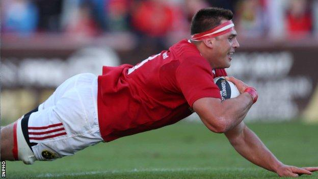 CJ Stander scored one of Munster's tries at Thomond Park