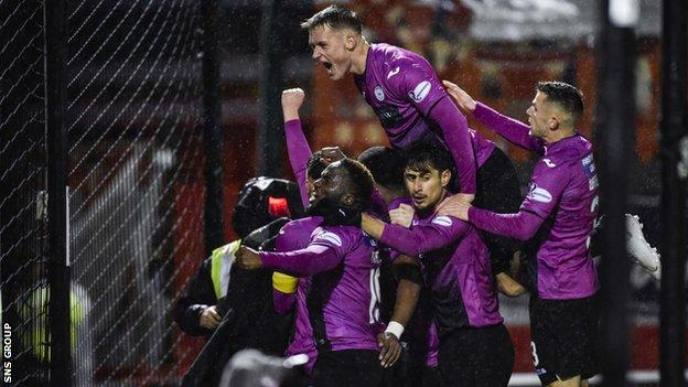 Pledges meant St Mirren's 2-1 win against Hamilton on 7 December raised over £7,000