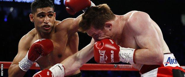 Amir Khan was probably ahead on the scorecards after four rounds following a blistering start