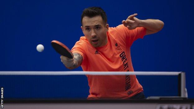 GB table tennis player Will Bayley in action