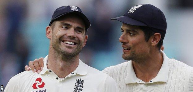 Anderson was visibly emotional as he walked off the field with his close friend Alastair Cook, who is retiring from international cricket